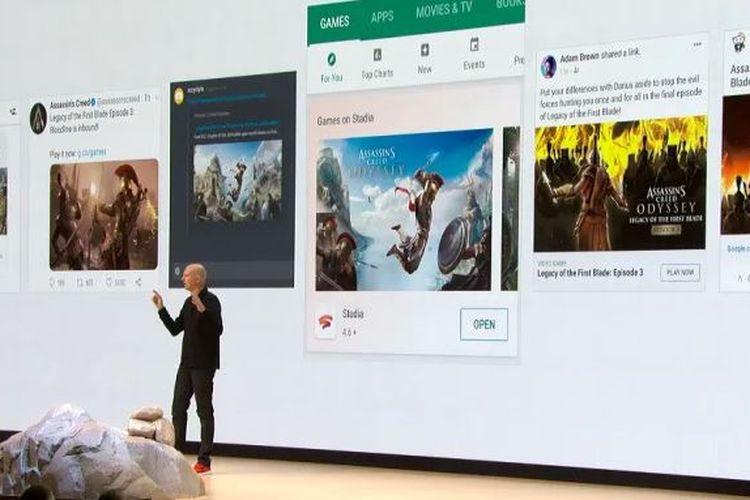 Ilustrasi game yang mendukung Google Stadia