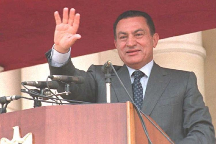 Presiden Mesir periode 1981 hingga 2011, Hosni Mubarak.