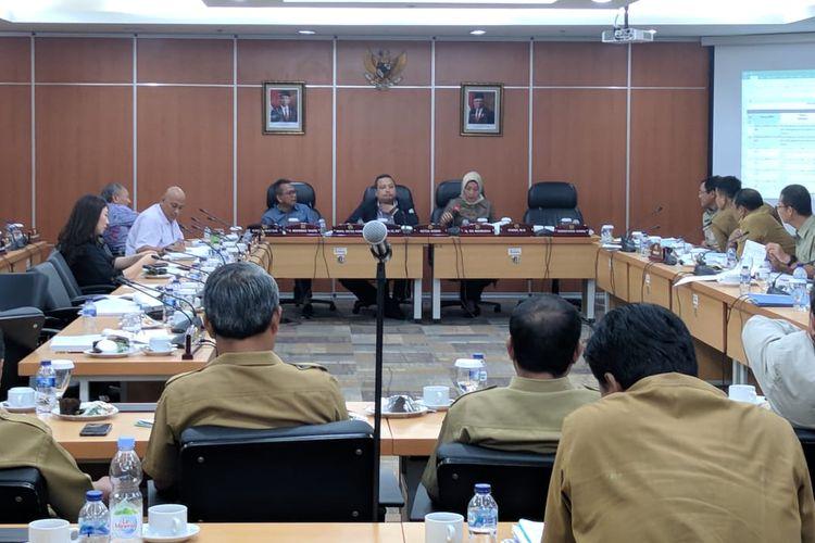 Suasana Ruang Rapat Komisi D DPRD DKI Jakarta, Selasa (5/11/2019)