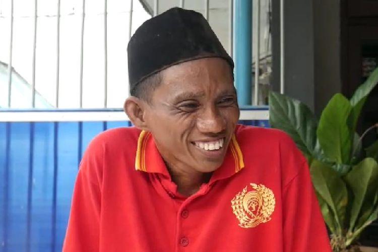 Ambo (42) saat ditemui awak media di Rutan Klas IIA Samarinda, Kalimantan Timur, Sabtu (11/4/2020).