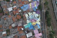 Mural di Genteng Rumah Sekitar Flyover Lenteng Agung Selesai, Ada Gambar Ondel-ondel
