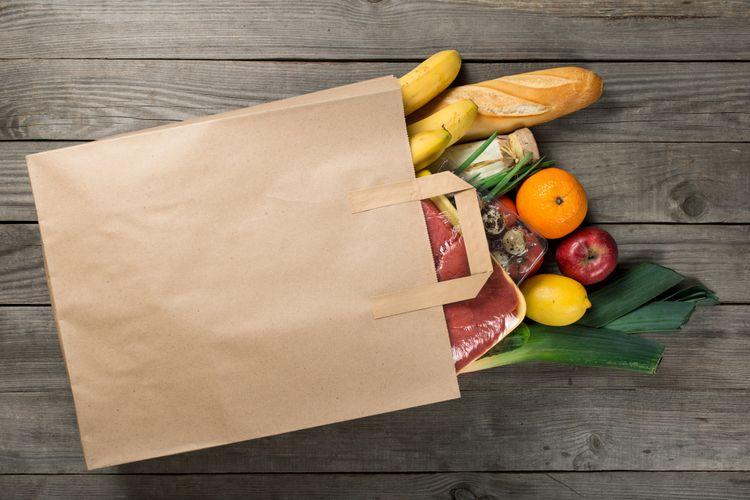 Ilustrasi kertas pembungkus makanan