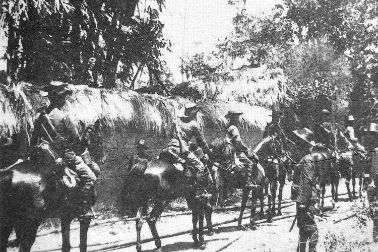 Kavaleri Belanda di Sanur, Bali tahun 1906