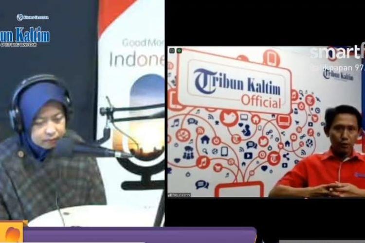 Talkshow Tribun Kaltim On Focus bersama Smart FM Balikpapan 97.8 FM bertema Nasib Siswa yang Tidak Lolos Sekolah Negeri, Senin (29/6/2020).
