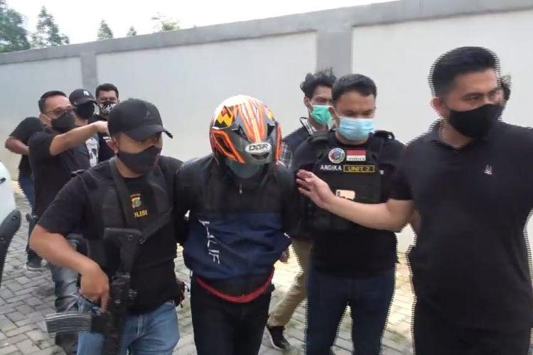 Pelaku Pemilik Tiga Paket Narkoba di Palembang ditangkap oleh Polres Jakarta Barat, Selasa (3/11/2020)
