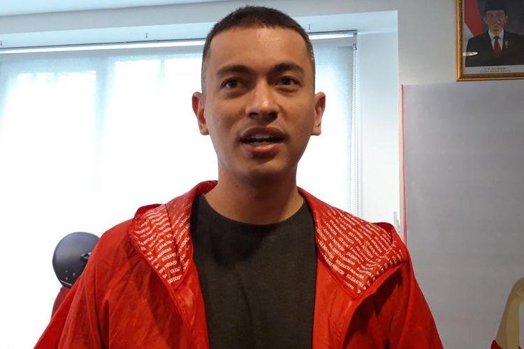 Wakil Ketua DPW PSI DKI Jakarta Rian Ernest, di Kantor DPW PSI, Tanah Abang, Senin (15/7/2019)