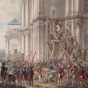 Lukisan yang menggambarkan penggulingan Tsar Peter III di Istana Musim Dingin, Rusia. (Wikipedia)
