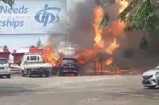 Truk Tangki Elpiji Terbakar di Surabaya, Sopir dan Operator Terluka