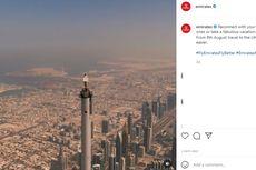 Viral Iklan Emirates Pramugari di Pucuk Burj Khalifa, Begini Proses di Balik Layar
