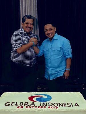 Pendiri Partai Gelora, Fahri Hamzah (kiri), dan Anis Matta (kanan).