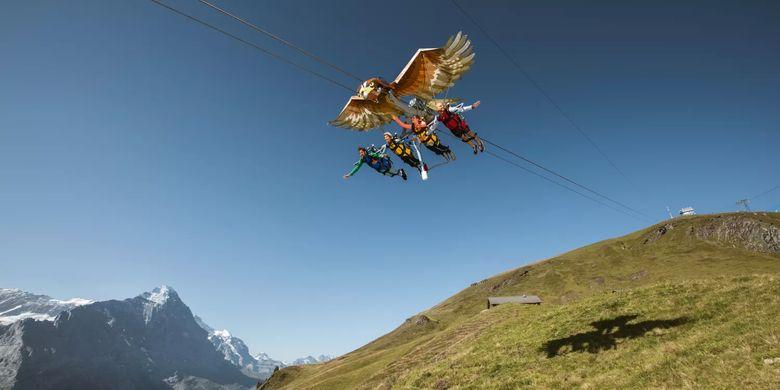 Tempat wisata di Swiss - Jungfraujoch.