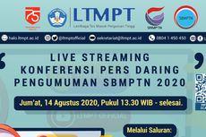 Ini Link Live Streaming Konpers Pengumuman SBMPTN 2020 Pukul 13.30 WIB