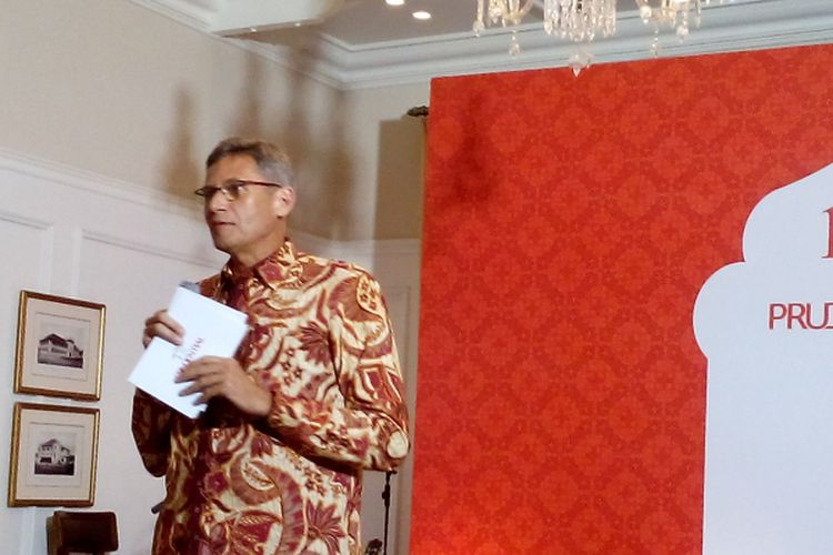 Presiden Direktur Prudential Jens Reisch dalam acara buka puasa Prudential, Rabu (7/6/2017) di Hotel Hermitage, Jalan Cilacap, Menteng, Jakarta Pusat.