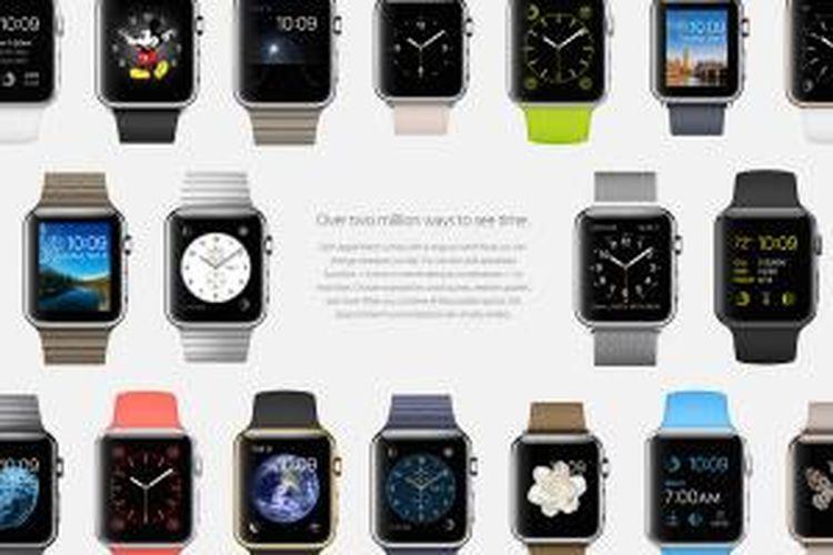 Berbagai macam versi Apple Watch yang dirsediakan Apple