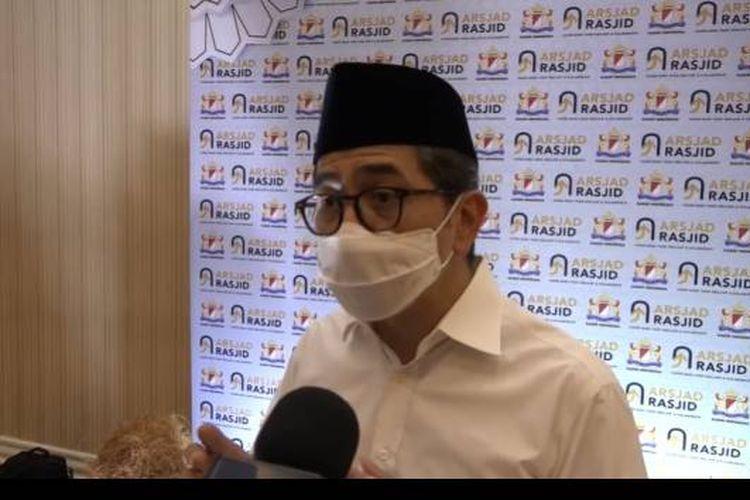Arsjad Rasyid saat diwawancarai di Hotel Adimulia, Medan, Sumatera Utara, Jumat (30/4/2021).
