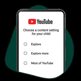 Tiga pilihan setelan konten yang bisa ditonton anak lewat supervised account di YouTube