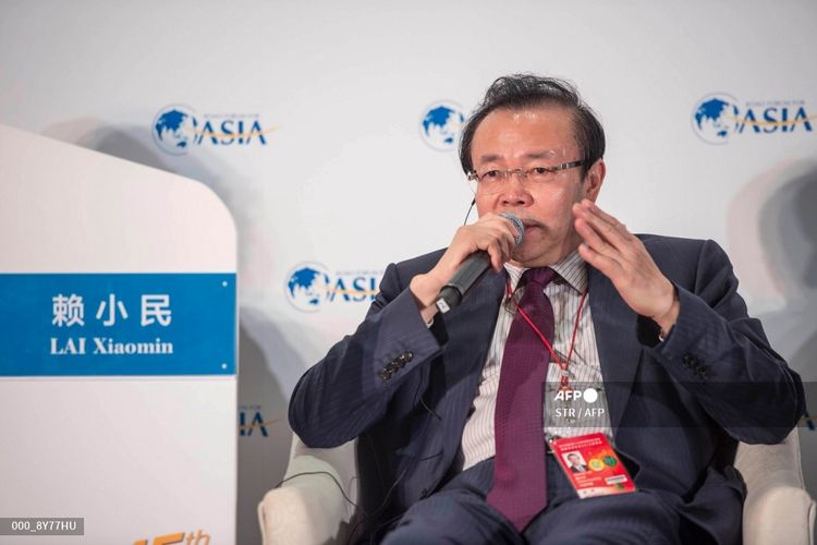 Foto yang dirilis pada 24 Maret 2016 menunjukkan Lai Xiaomin, mantan ketua Huarong Asset Management Co China, yang berrbicara dalam Konferensi Tahunan Forum Boao untuk Asia (BFA) du Boao, Provinsi Hainan, China. Dia mendapat hukuman mati pada 5 Januari 3021 setelah terbukti menerima korupsi hingga 260 juta dollar AS, atau Rp 3,6 triliun, dan mempunyai istri lain di luar pernikahannya.