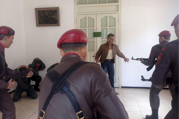 Diorama penculikan Pierre Tendean di museum Dr. A. H. Nasution, Jakarta Pusat, Selasa (26/9/2017)