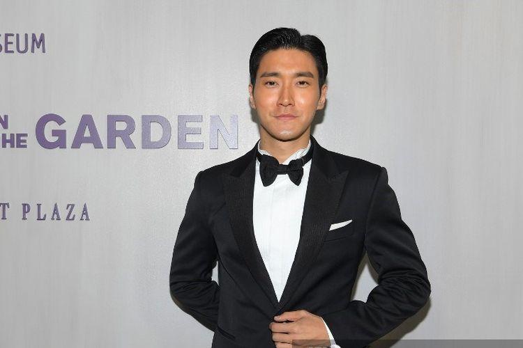 Member Super Junior Choi Siwon menghadiri acara Hammer Museum 16th Annual Gala in the Garden di Los Angeles, California, pada 14 Oktober 2018.