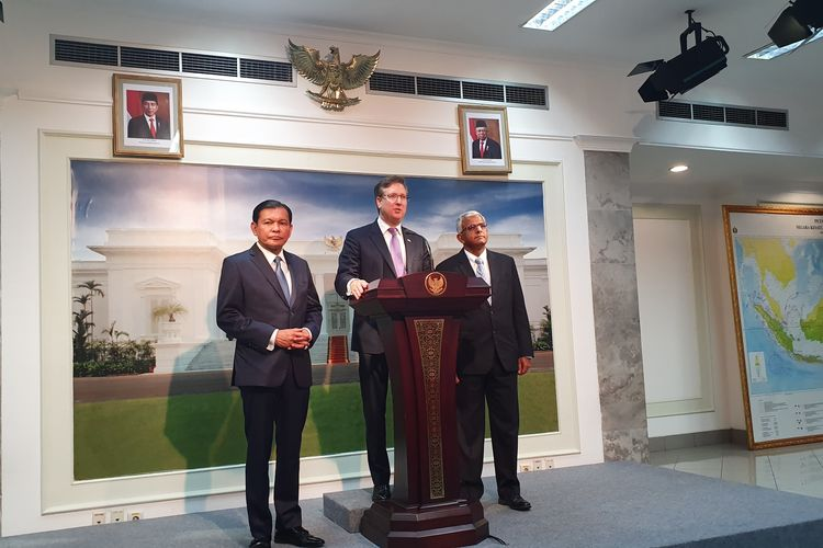 Pimpinan Dewan Bisnis Amerika Serikat-ASEAN atau US-ASEAN Business Council USA bertemu Presiden Jokowi di Istana Merdeka, Jakarta, Kamis (5/12/2019).