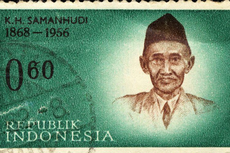 Perangko K H Samanhudi Tahun 1868-1956