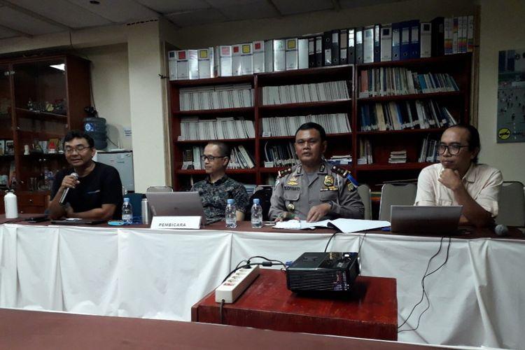 Diskusi Stop Politisasi CFD! Kembalikan ke Khittahnyadi Gedung Sarinah, Jakarta Pusat, Jumat (5/4/2018).