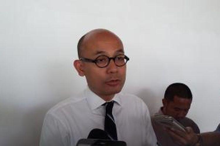 Juru Bicara Kementerian Luar Negeri Arrmanatha Nasir, saat ditemui di Gedung Kemenlu, Jakarta Pusat, Senin (9/11/2015).