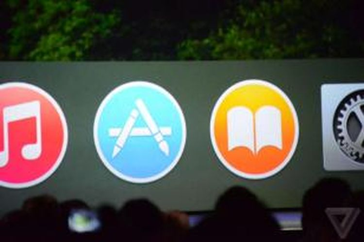 Apple memperkenalkan OS X Yosemite dalam Worldwide Developer Conference 2014.