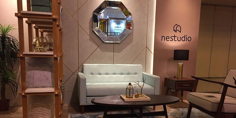 Koleksi pertama Nestudio Turquoise Cream yang dipamerkan di Hospitality 2018.
