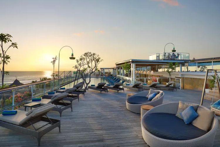 Pemandangan sunset di Aston Canggu Beach Resort