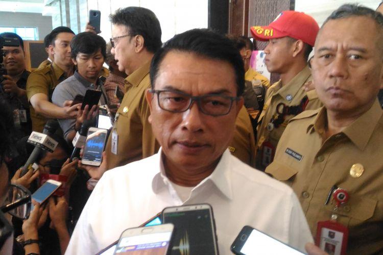 Kepala Staf Keperesidenan (KSP) Moeldoko di Hotel Bidakara, Jakarta, Senin (11/2/2019).