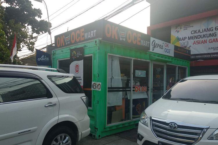 OK OCE Mart yang pertama didirikan di Jalan Cikajang, Kebayoran Baru, terlihat sepi pada Senin (3/9/2018) sore.
