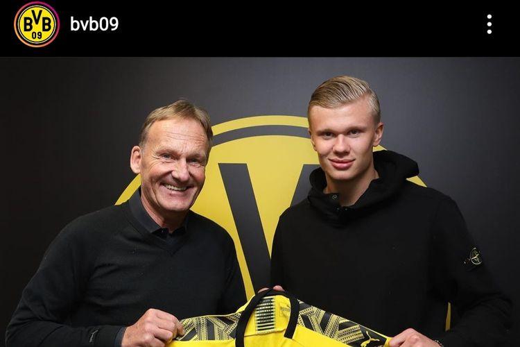 Erling Braut Haaland resmi berseragam Borussia Dortmund