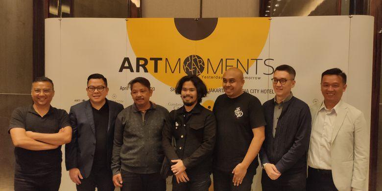 Para pembicara di acara perkenalan Art Moment Jakarta 2020, Sheraton Grand Jakarta Gandaria City Hotel, Selasa (11/2/2020).
