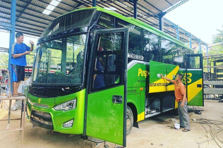 Medium bus Sonic MHD karoseri Anugrah