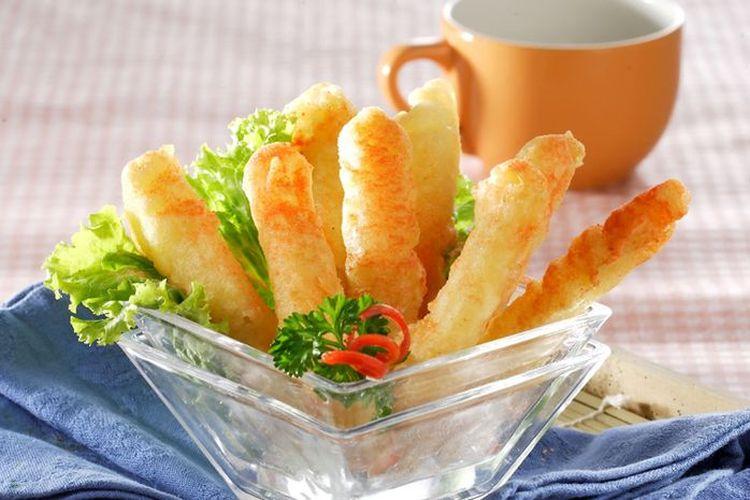 Ilustrasi stik kentang bawang keju ala Sajian Sedap.