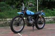 Klasik dan Resik, Ubah Yamaha Scorpio Jadi Motor Trail Jadul