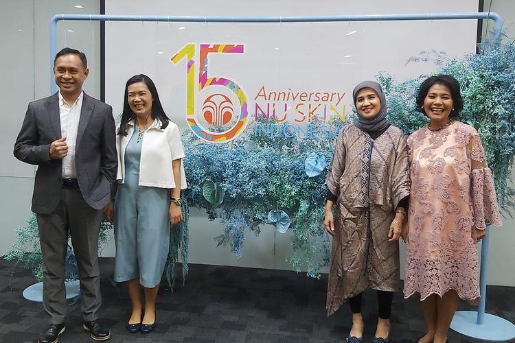 Dari kiri ke kanan: Presiden Nu Skin Indonesia Kany V Soemantoro, Direktur Marketing Juliani Tjhai,  Regulatory Manager Nellia Roza, dan VP Sales & Marketing Shita Laksmita.