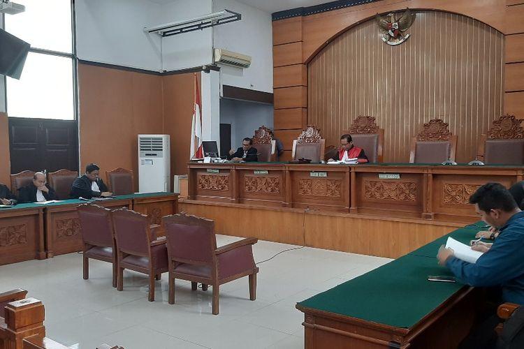 Suasana sidang pembacaan putusan atas gugatan praperadilan yang diajukan eks Sekretaris MA Nurhadi di PN Jakarta Selatan, Selasa (21/1/2020).