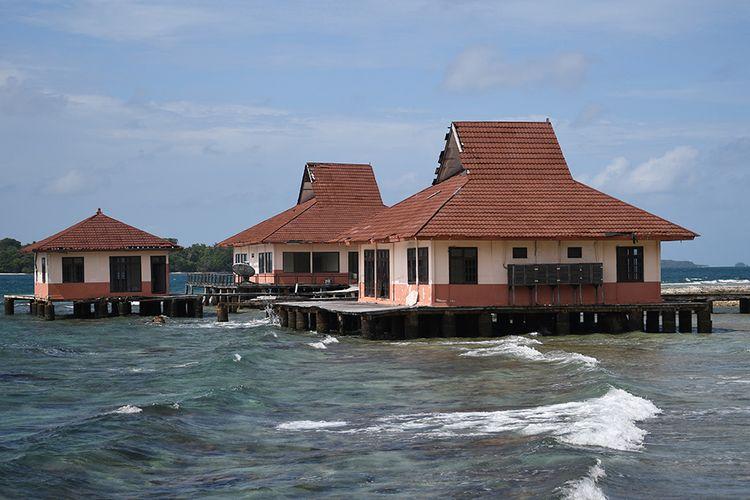 Suasana Pulau Sebaru Kecil di Kepulauan Seribu, Jakarta, Senin (26/2/2020). Pulau Sebaru akan menjadi lokasi observasi 188 WNI ABK World Dream selama 14 hari, menyusul munculnya kasus positif virus corona di kapal pesiar tersebut.