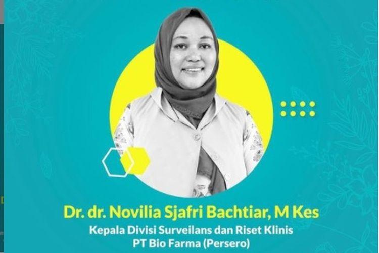 Ketua uji klinis vaksin Covid-19 Sinovac dari Bio Farma sekaligus akademisi dari Universitas Padjajaran (Unpad), dr Novilia Sjafri Bachtiar meninggal dunia karena terinfeksi Covid-19.
