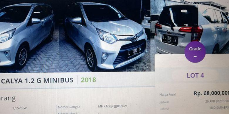 Menu Mobil Bekas Rp 70 Jutaan Di Balai Lelang Ada Sigra Calya Hingga Avanza Halaman All Kompas Com