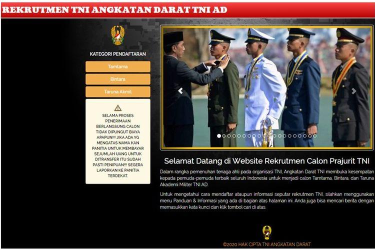 Rekrutmen TNI AD 2020
