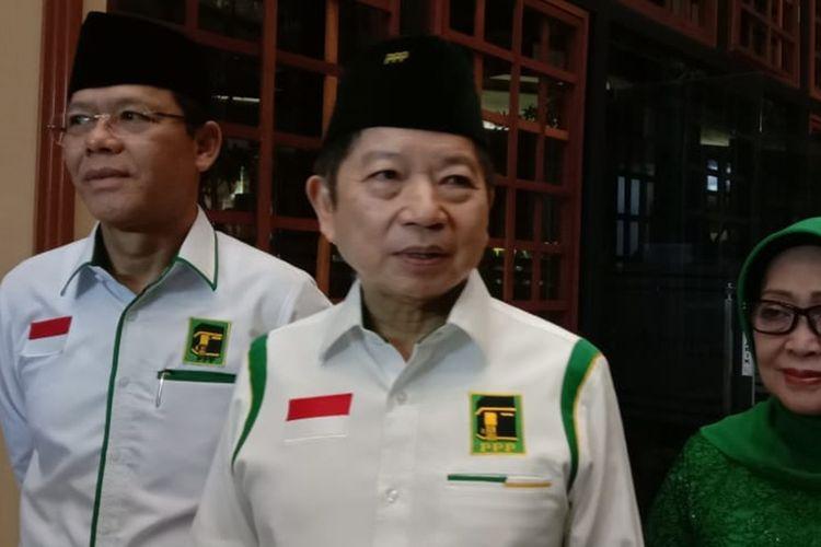 Pelaksana Tugas Ketua Umum PPP Suharso Monoarfa saat menghadiri sebuah acara di Kota Malang, Jumat (4/10/2019) malam.