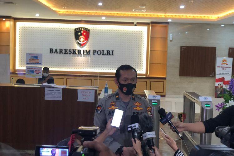 Kepala Biro Penerangan Masyarakat (Karopenmas) Divisi Humas Polri Brigjen (Pol) Awi Setiyono di Gedung Bareskrim Polri, Jakarta Selatan, Sabtu (8/8/2020).