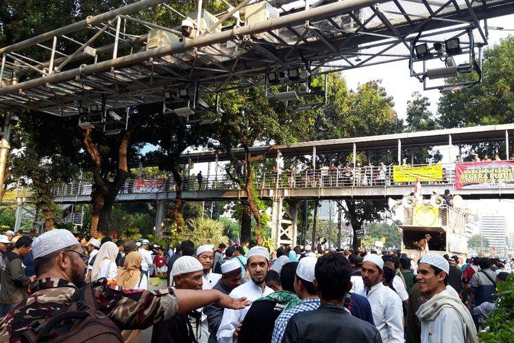 Massa aksi di sekitar Gedung MK Bubarkan diri, Rabu (26/5/2019)