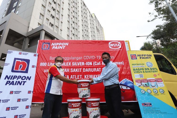 Donasi cat Nippon Paint untuk RSDC Wisma Atlet Kemayoran