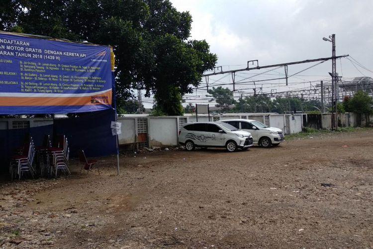 Calon lokasi sentra kuliner malam Jatinegara, Jakarta Timur, Selasa (20/3/2018)