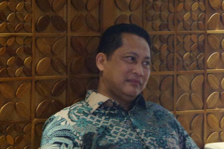 Kepala Badan Narkotika Nasional (BNN) Budi Waseso di Kompleks Parlemen, Senayan, Jakarta, Jumat (31/3/2017).