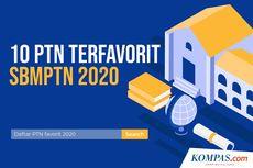 INFOGRAFIK: 10 PTN Terfavorit di SBMPTN 2020